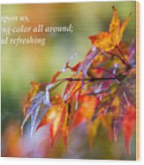 Fall Color - Haiku Wood Print