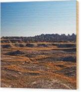 Fall Color In The Badlands Wood Print