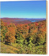 Fall Color On The Fulton Chain Of Lakes Wood Print