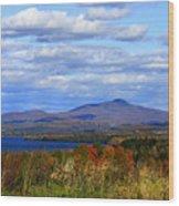 Fall Colors At Lake Carmi Wood Print