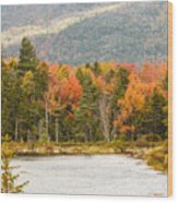 Fall Colors By The Lake Wood Print