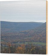 Fall Colors In Nippenose Valley Wood Print