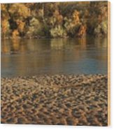 Fall Colors On The Rio Grande 1 Wood Print