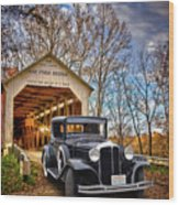 Fall Country Drive Wood Print by Bill Dutting
