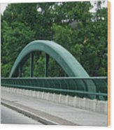 Fall Creek Gorge Bridge Cornell University Ithaca New York Wood Print