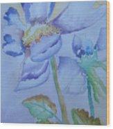Fall Daisy Wood Print