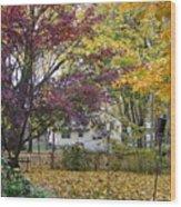 Fall Day Wood Print