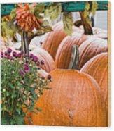 Fall Display Wood Print