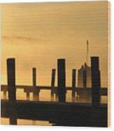 Fall Docks Marker Wood Print