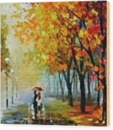 Fall Drizzle Wood Print