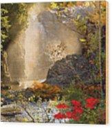 Fall Falls Mist  Dead River Falls  Marquette Mi Wood Print