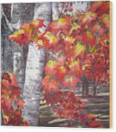 Fall Fantasy Wood Print