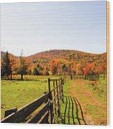 Fall Farm #4 Wood Print