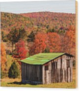 Fall Farm No. 6 Wood Print