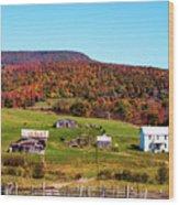 Fall Farm No. 7 Wood Print