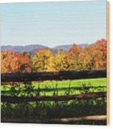 Fall Farm No. 8 Wood Print