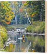 Fall Fishing Wood Print