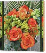 Fall Flowers Wood Print
