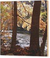 Fall Flows Wood Print