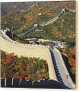 Fall Foliage At The Great Wall Wood Print