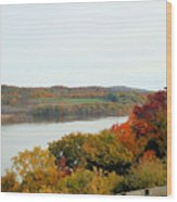 Fall Foliage In Hudson River 5 Wood Print