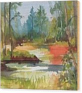 Fall Foliage In Vermont Wood Print