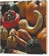Fall Fruit And Vegetables  Wood Print