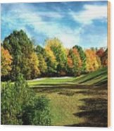 Fall Golf Course Beauty Wood Print