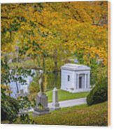 Fall Graves Wood Print