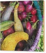 Fall Harvest Basket Wood Print