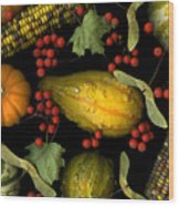 Fall Harvest Wood Print