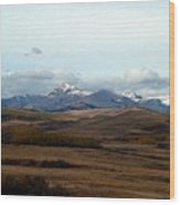 Fall Hills Rolling Towards The Mountains Wood Print