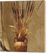 Fall In A Vase Still-life Wood Print by Christine Till