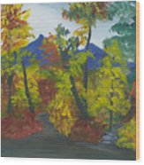Fall In All Its Glory Wood Print