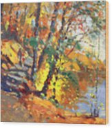 Fall In Bear Mountain Wood Print