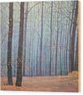 Fall In Forest Wood Print