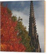 Fall In Garden City Ny. Wood Print