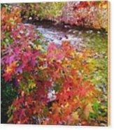 Fall In Gatlinburg Wood Print