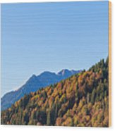Fall In Gstaad Wood Print