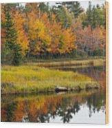 Maine Fall Wood Print