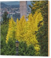 Fall In Portland Or 2 Wood Print