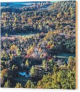 Fall In Shenandoah Valley Wood Print