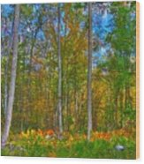 Fall In The Swamp Wood Print