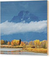 Fall At The Oxbow Wood Print