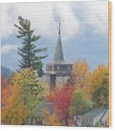 Fall In Upstate New York Wood Print