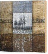 Fall Into Winter Wood Print