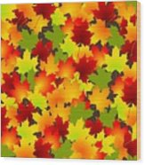 Fall Leaves Quilt Wood Print