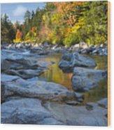 Fall Morning At Swift River Wood Print