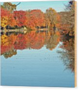 Fall Morning In East Lyme 1 Wood Print