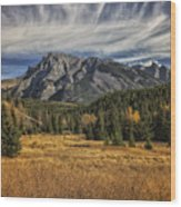 Fall Mountain Wood Print